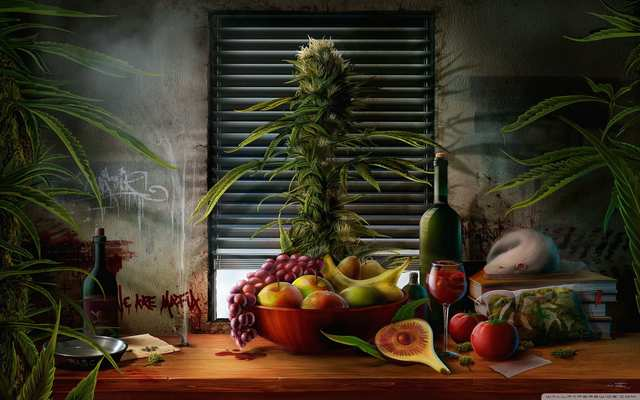 Drawn wallpapers Fruits And cannabis 030700