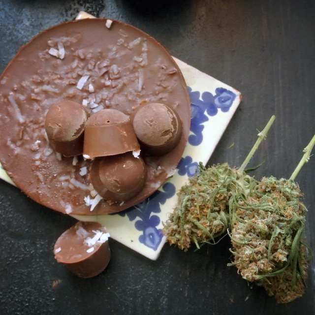 Молочные шоколадки с Бразильским орехом и кокосом